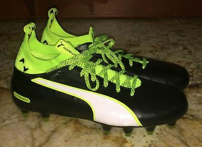 36f0ac3bce2d PUMA evoTOUCH 1 Firm Ground Black Yellow White Soccer Cleats NEW Men Youth  7 8.5