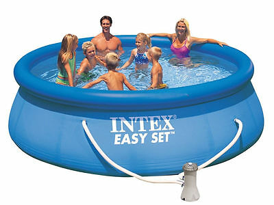 Intex 28168 piscina easy rotonda tonda 457x122 pompa for Piscina 457 x 122