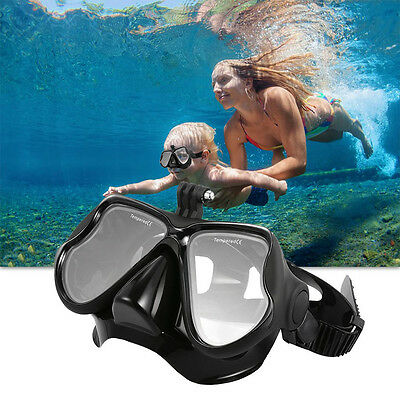 For GoPro Anti-Fog Adult Snorkeling Goggles Diving Mask Camera Swimming Glasses