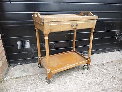 Vintage 'Strongbow' Yew Wood Hostess/Tea Trolley With removable tray
