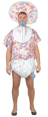 Mens Adult Floral Big Baby Stag Do Night Funny Fancy Dress Costume Outfit M & L