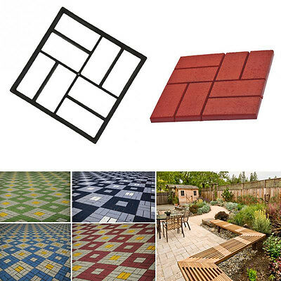 8Grid Garden DIY Path Maker Mold Stepping Stone Paving Cement Mould Brick Tool