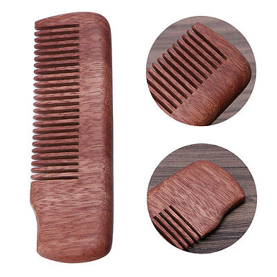 Fine Tooth Wood Beard Comb Pocket Size Anti-static Massage Hair Care Brush Gift