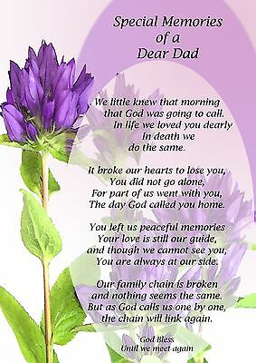 Dad Graveside Card In Loving Memory Bereavement