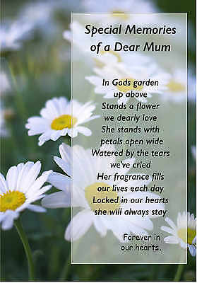 Mum Graveside Card In Loving Memory Bereavement