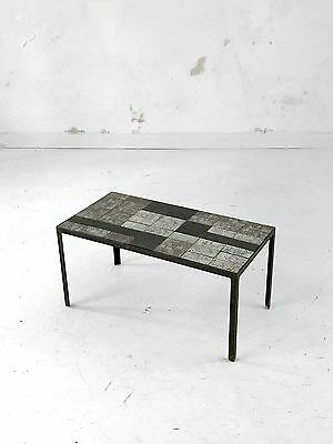 1950 Mado Jolain Table Basse Moderniste Bauhaus Ceramique Vallauris