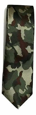 Army Miitary Camouflage camo mens wedding event prom party plain necktie tie UK