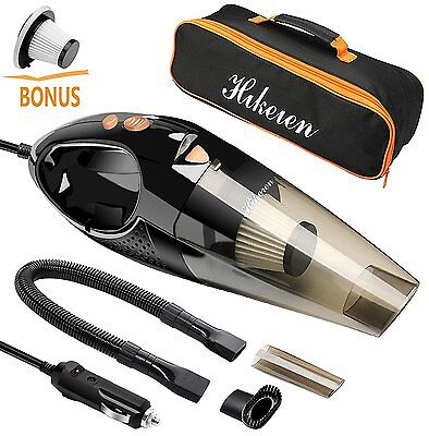 UK Portable 12V 106W Handheld Wet&Dry Auto Car Home Vacuum Cleaner 5M Power Cord