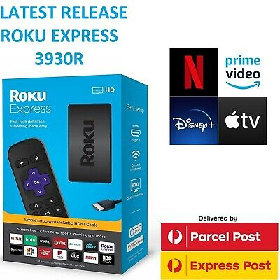 Latest Roku Express 3900R AU PSU HD 1080p Streamer Netflix Youtube Prime Video