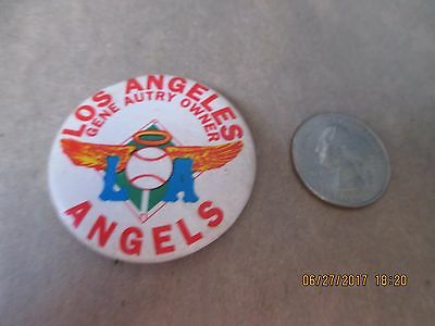 Original 1960's Los Angeles Angels Gene Autry Owner   Button