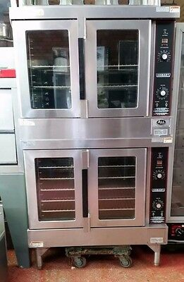 Hobart Double-Deck Full-Size HGC5-10 Gas Convection Oven Set - EXCELLENT DEAL!!