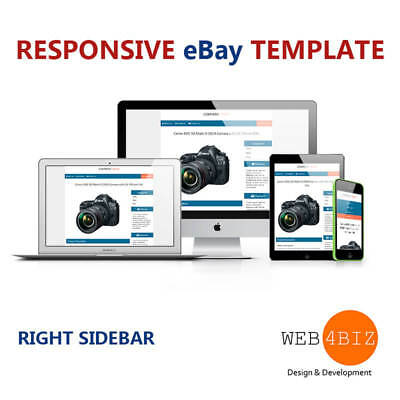 eBay Listing Template Responsive Professional Design HTML and CSS 2017 Approved!