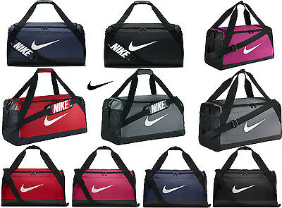 Nike Brasilia Team Gym Sports Football Duffle Training Kit Bag Holdall S/M