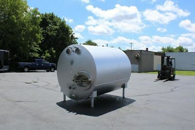 Heil 1500 Gallon Stainless Steel Jacketed Horizontal Tank, Wine, Cider, Making