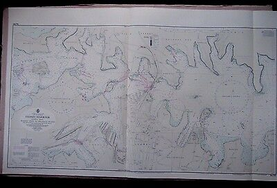 """1971 AUSTRALIA Central SYDNEY HARBOUR NSW - Admiralty Map Chart 46"""" x 28"""" D40"""