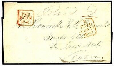952c 1840 Superb Dublin Sunday 10th May Datestamp	London Stunning Strike Cover
