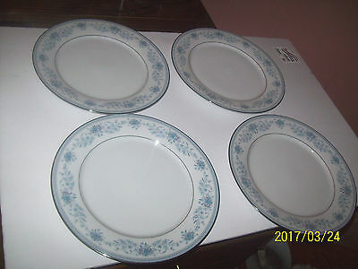 Contemporary Noritake China Blue Hill 2482 10 1/2 In Dinner Plates Set - 4