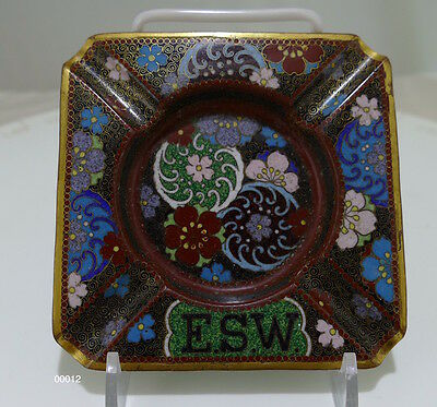Extraordinary Old Cloisonné Ashtray 19th century - 00012