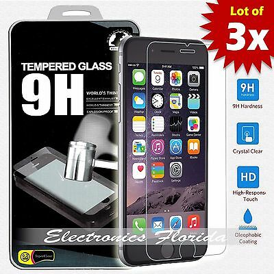 [3X Package] for iPhone 7 Plus Tempered Glass Screen Protector (A+ Quality)