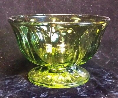 Carnival Glass Olive Green Candy Dish Vintage