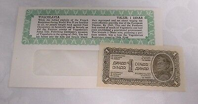 Yugoslavia Paper Currency 1 Dinar