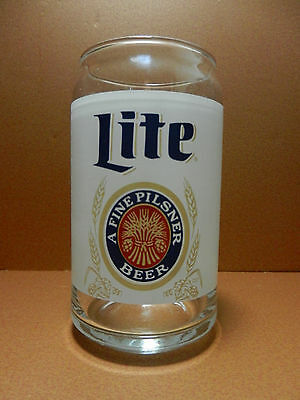 Miller Lite Can Shaped 16 Ounce Beer Glass