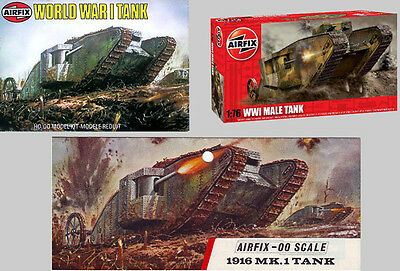 1/72 Mark I Male, WWI Tank Blister Pack Bild unten!- Airfix Issue old rare! OVP!