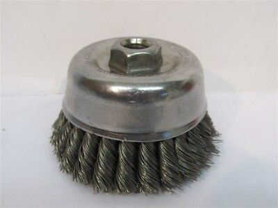 """Weiler 12766, 4"""" Double Row Knot, Wire Cup Brush"""
