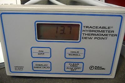 Fisher Scientific Traceable Humidity Temperature Dew Point Meter -7742