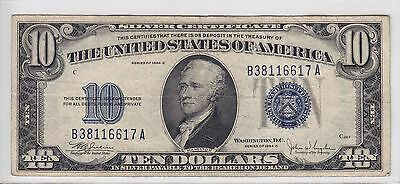 United States 1934-C $10 Silver Certificate Note FR#1704 B38116617A