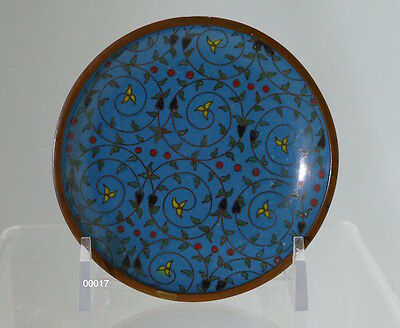 Very Old Chinese Persian Style Cloisonné Dish China, c1900 - 00017