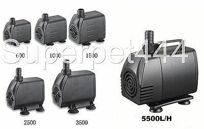 Submersible /Pond/Fountain/Aquarium Pump 600/1000/1500/2500/3500/5000 L/H