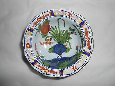"""Morell Pottery Italy Hand Painted Art Nouveau Bowl Dish Signed """"dipinto A Mano"""""""