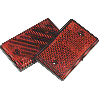 Sealey TB24 Reflex Reflector Red Oblong Pack of 2