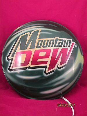 Mountain Dew Round Button Lighted Display