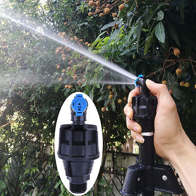 360° Adjustable Lawn Rotating Water Sprinkler Nozzle Garden Pipe Hose Irrigation