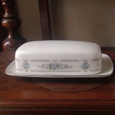 Wade Covered Butter Dish Fine Porcelain China of Japan -  2 piece Blue