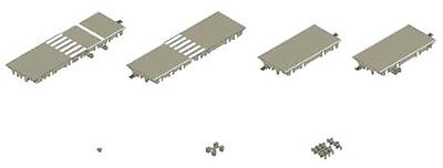 Tomytec N Scale X-003 Moving Bus System Intersection Expansion Set A 1/150