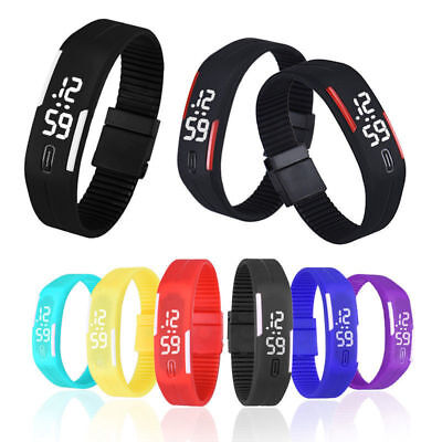 Ms. AND Men Fashion Digital LED Sports Silicone Bracelet Wrist Watch HOT Gift