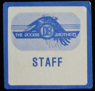 Doobie Brothers _VERY RARE Farewell Tour 1982 Staff Cloth Backstage Pass