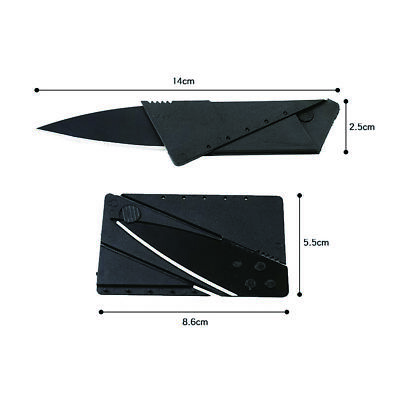 2017 Credit Card Folding Razor Sharp Wallet Knife survival tool thin fruit knife