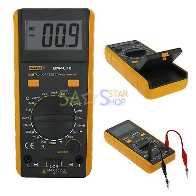 Portable BM4070 LCR meter capacitance 2000uF self-discharge tester inductance