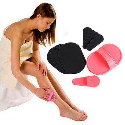 Exfoliator Set Smooth Away Leg Skin Pad Arm Face Hair Pad Removal Remover Lady