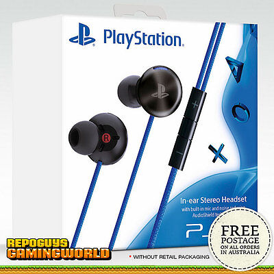 In-ear Stereo Headset Mic Playstation 4 for Sony PS4 PS Vita Smartphone PC Mac