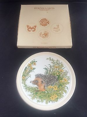 Vintage Boxed Hornsea Pottery Hedgehog Wall Plaque in Box Gifts Gift Range