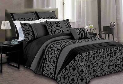 Luxton Dursley doona Cover Set black charcoal Quilt cover in SUPER KING / QUEEN