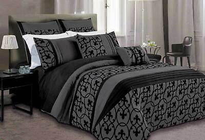 Luxton Dursley doona Cover black charcoal Quilt cover SUPER KING QUEEN /options
