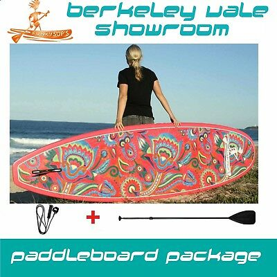"Stand up Paddle Board Epoxy SUP Package ""Flower Power"" 10' 10'6 11'2"