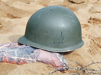 Vintage WWII US Military Style M1 Helmet and Liner - Austrian Army Surplus