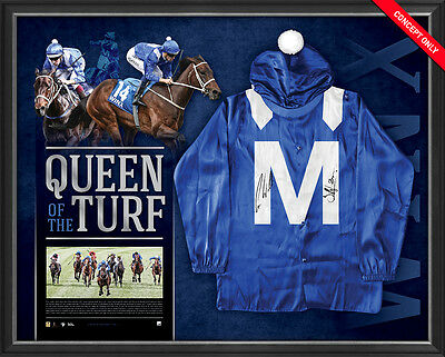 Winx Signed Official Mid Silks Framed Queen of the Turf Hugh Bowman Waller